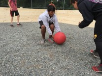 Student constructed Gaga Ball court