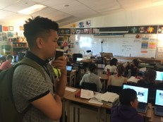 Surrey Schools helping teacher Joe Tong taking in some of the interesting learning in Mr. Stemler's class