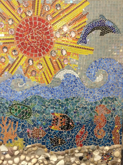From these hands...look at this beautiful mosaic created by the talented parent and student artists in Mrs. Jennings' class.