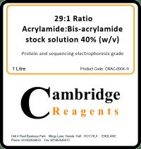 29:1 Acrylamide/Bisacrylamide (40%)