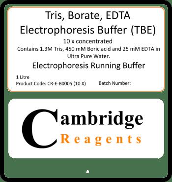 TBE (tris-borate-EDTA buffer)