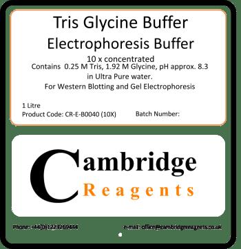 Tris Glycine buffer for electrophoresis
