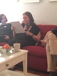 Participant Saundra Norton reading her Evocative Object piece