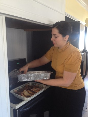 Norma making French toast