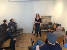 "Anca Szilagyi, our first reader, shared a piece called ""Cauliflower Tells You,"" featured in Monkey Bicycle."