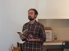 "CWW Exec board member Jonah Kruvant read an excerpt from his new book, ""The Last Book Ever Written."""