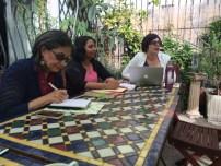 Rita Banerjee and Diana Norma Szokolyai lead a workshop