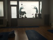 The yoga studio where our yoga instructor, Elissa Lewis, led her classes