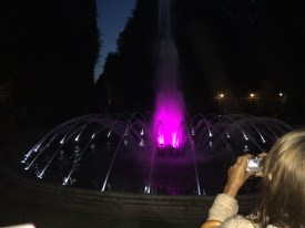 Musical fountain with lights