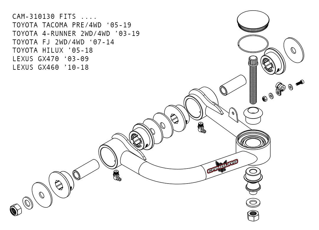 Camburg Toyota Tacoma Pre 4wd 05 19 1 25 Performance