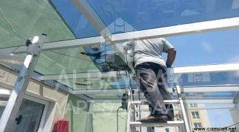teras ustu cam kapatma 4 - Teras Üstü Cam Çatı