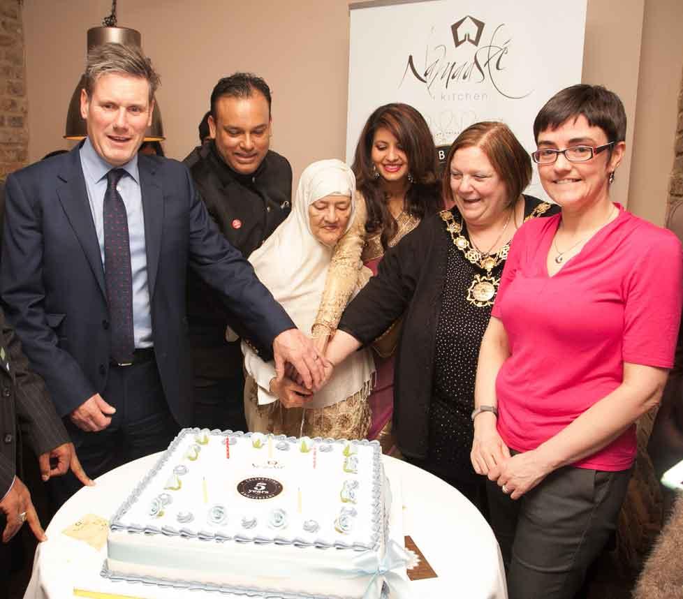 Namaaste Kitchen Celebrate 5th Birthday with Mayor of Camden