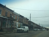 Row homes in Camden, N.J. Photo by: Sarah Camp
