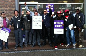 Camden NSL members on strike in 2012