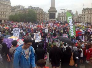 Trafalgar Square rally 10 July 2014