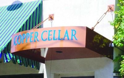 Sign copper cellar