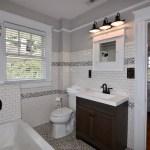 Main bathroom off bedroom at 606 N Broad St, West End.