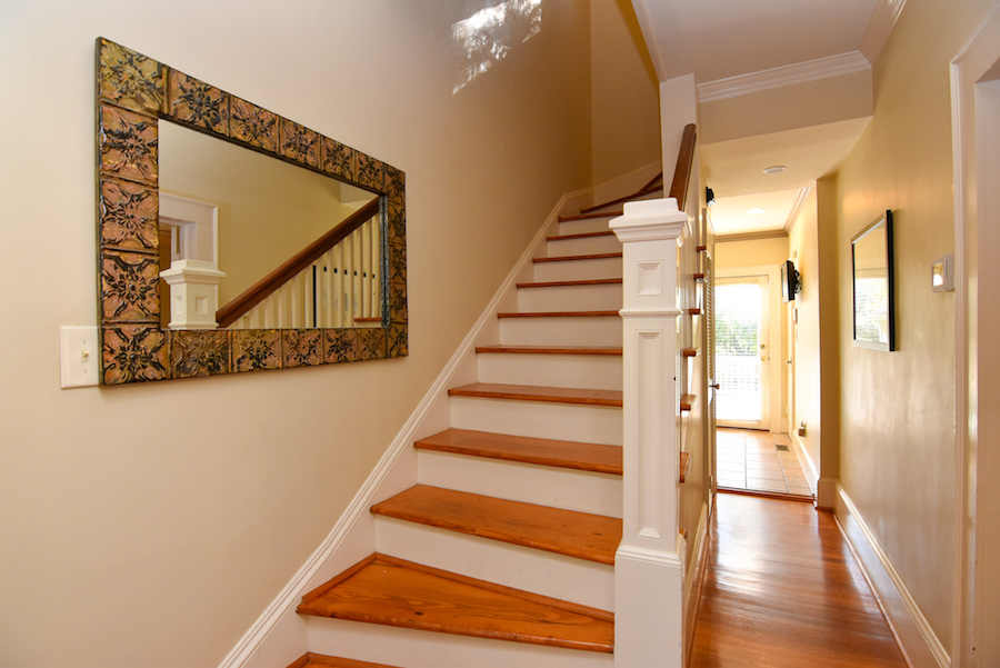 New Listing, 426 Carolina Circle in Buena Vista, Winston Salem. staircase.