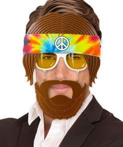 lunettes barbe hippie