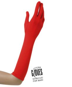 gants longs rouges
