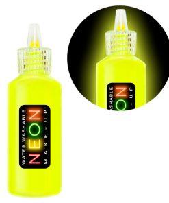 maquillage jaune fluo