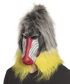 masque babouin avec poils