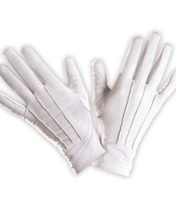 gants courts blancs