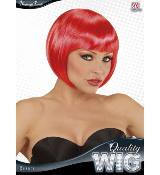 perruque courte rouge