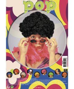 perruque bouclee noire