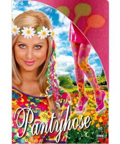 collant hippie fleurs