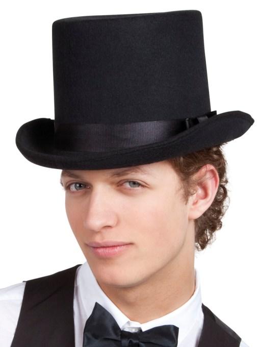 chapeau haut de forme noir