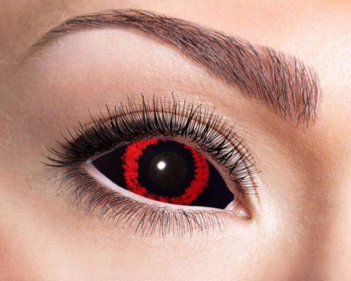lentilles sclera démon rouge