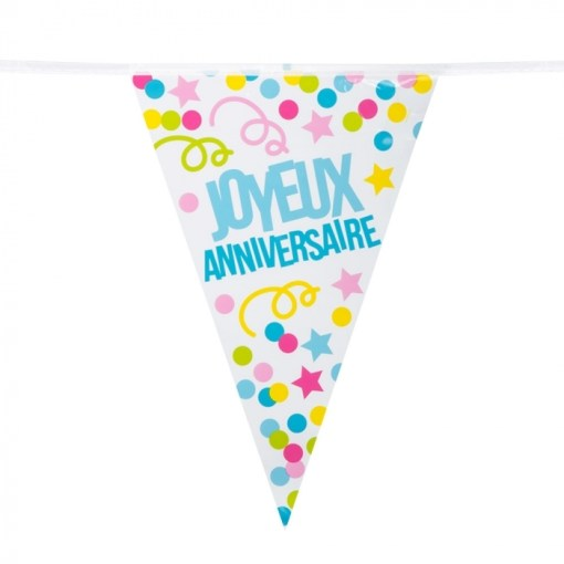 Guirlande joyeux anniversaire pastel
