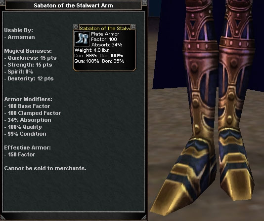 Sabaton Of The Stalwart Arm Items Dark Age Of Camelot ZAM