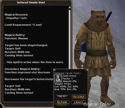 Tattered Vendo Vest Items Dark Age Of Camelot ZAM