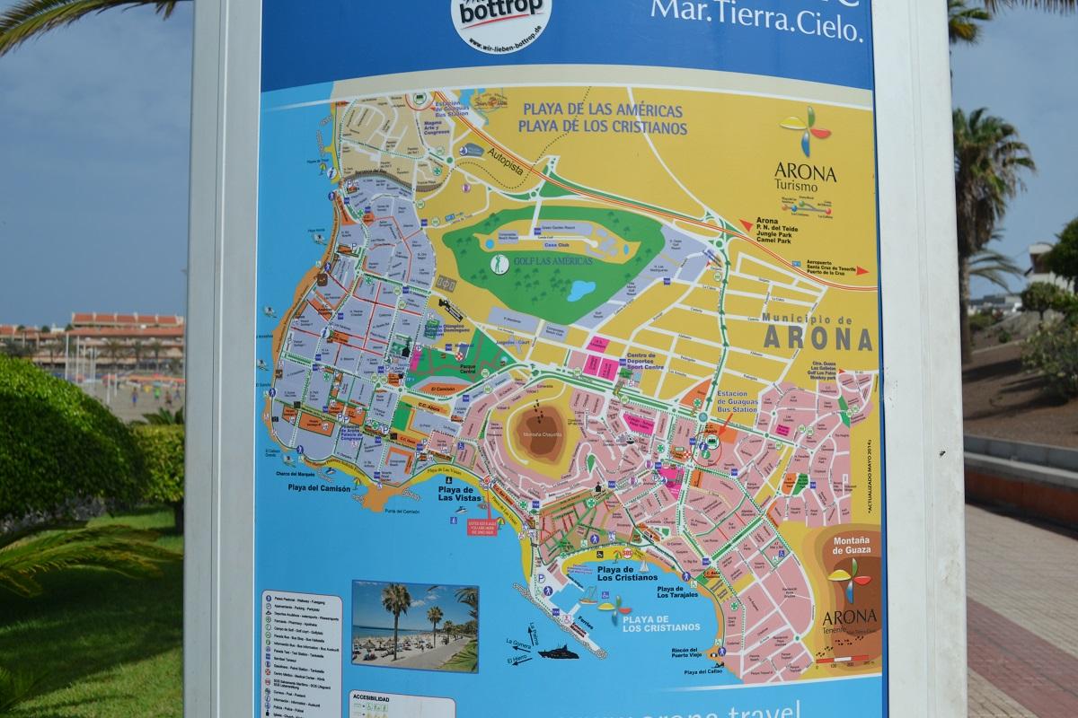 Map of Los Cristianos Playa de Las Americas Camel Travel