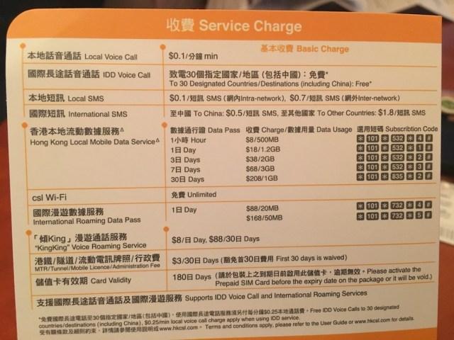 CSL 4G Data Sim Hong Kong