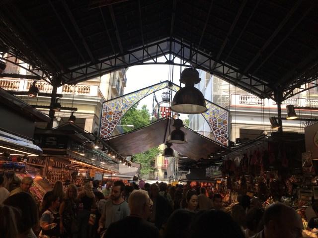 Crowds La Boqueria