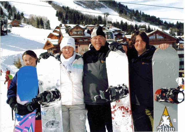 Snowboarding Courchevel