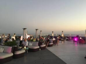 Rooftop lounge bar