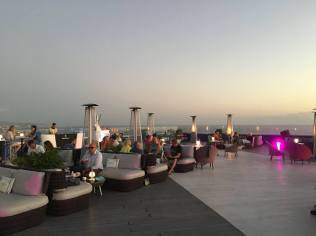 Rooftop lounge bar