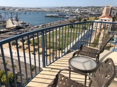 Our balcony at the Wyndham San Diego Bayside