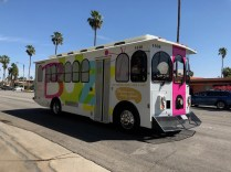 There's a free trolley service in Palm Springs