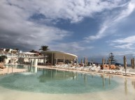 Pool bar and sun loungers