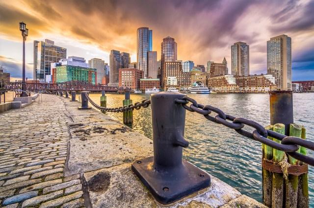 Boston, Massachusetts, USA Harbor and Skyline
