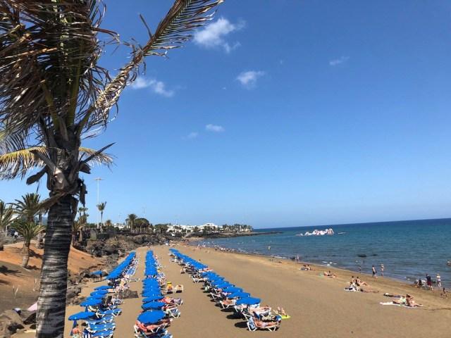 Playa Grande beach. The best beaches in Lanzarote