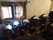 Battery of balsamic vinegar barrels
