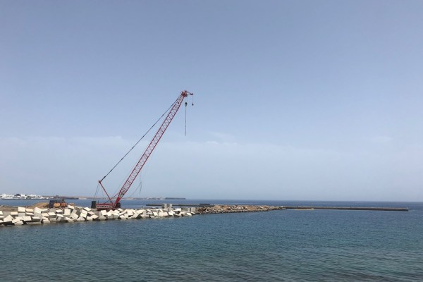 Building work in Playa Blanca