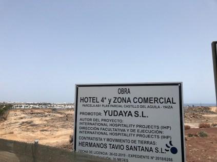 Yudaya SL building site project notice Playa Blanca