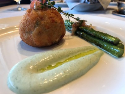 Lobster fishcake at the Crown Grill